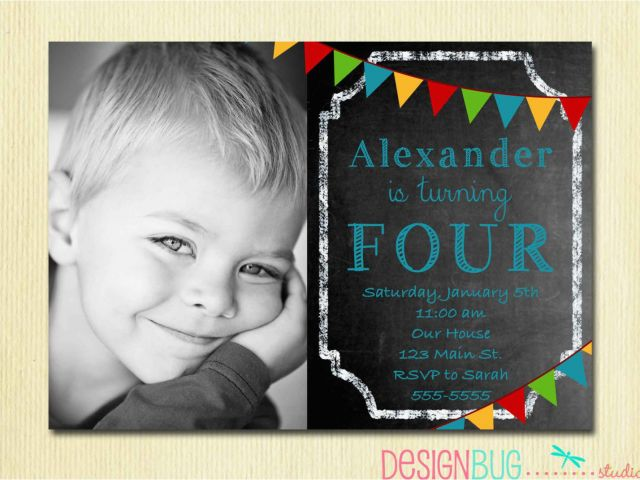 Birthday Party Invitation Wording For 4 Year Old