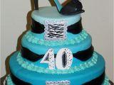 40 Birthday Cake Decorations 40th Birthday Stiletto Heel Zebra Cakecentral Com