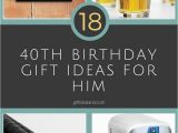 40 Birthday Gifts for Him 10 Stylish 40th Birthday Gift Ideas for Husband