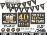 40 Year Birthday Ideas for Him 40th Birthday Party Decorations 40th Birthday Party for Him