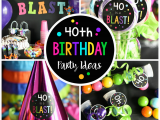 40 Year Birthday Ideas for Him 40th Birthday Party Throw A 40 is A Blast Party