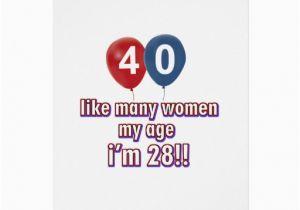 40 Year Old Birthday Cards Women Designs Greeting Card Zazzle