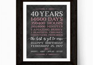 40 Year Old Birthday Gifts For Him 40th Women Men Adult Gift