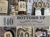 40 Year Old Birthday Gifts for Male Birthday Party Ideas for Men Cheers to 40 Years Milestone