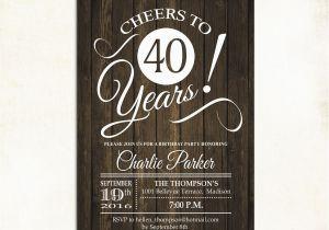 40 Year Old Birthday Invitations 40th Surprise Birthday Invitation