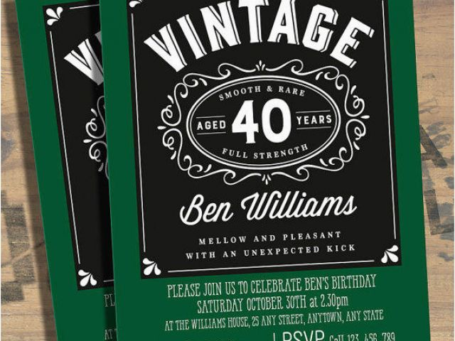 40 Year Old Birthday Invitations 40th Birthday Party Invitations For