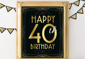40 Year Old Birthday Invitations Happy 40th Signs Il Fullxfull 880133717 1rdy