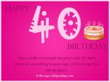 40th Birthday Card Messages Funny 40th Birthday Wishes 365greetings Com