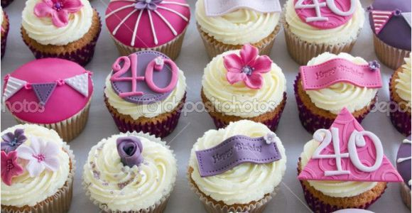40th Birthday Cupcake Decorations 17 Best Ideas About 40th Birthday Cupcakes On Pinterest