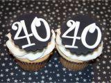40th Birthday Cupcake Decorations 40th Birthday Cake toppers 40th Birthday Cake topper