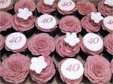 40th Birthday Cupcake Decorations 40th Birthday Cupcakes 40th Birthday Cupcakes Chocolate