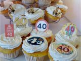 40th Birthday Cupcake Decorations 40th Birthday Party Edible Cupcake toppers Cake