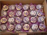40th Birthday Cupcake Decorations Mossy 39 S Masterpiece 40th Birthday Cupcakes Fabulous