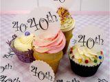 40th Birthday Cupcake Decorations Wafer 40th Birthday Cupcake Discs