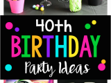 40th Birthday Decorations for Her 40th Birthday Party 40 is A Blast Fun Squared