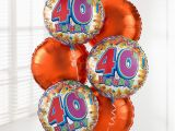40th Birthday Flowers and Balloons 40th Birthday Balloon Bouquet
