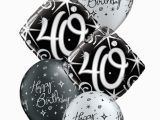 40th Birthday Flowers and Balloons Elegant 40th Birthday Balloon Bouquet Party Fever