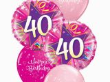 40th Birthday Flowers and Balloons Pink 40th Birthday Balloon Bouquet Party Fever