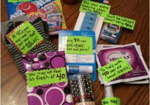 40th Birthday Gag Gifts For Her Gift Basket Ideas The Receiver Thought