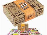 40th Birthday Gag Gifts for Him Amazon Com Vintage Candy Co 40th Birthday Retro Candy