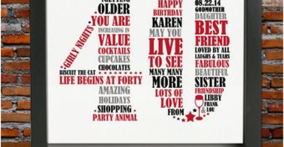 40th Birthday Gifts for Him Usa Personalized 40th Birthday Gift for Him 40th Birthday 40th