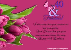 40th Birthday Greeting Card Messages 40th Birthday Wishes 365greetings Com