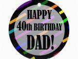 40th Birthday Ideas for Dad 40th Birthday for Dad ornament Round by Birthdayhumor1