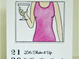 40th Birthday Ideas for Girlfriend Happy 40th Birthday Martini Card by thenestedturtle On