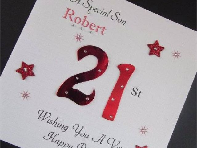 40th Birthday Ideas For Son Handmade Personalised Male Card