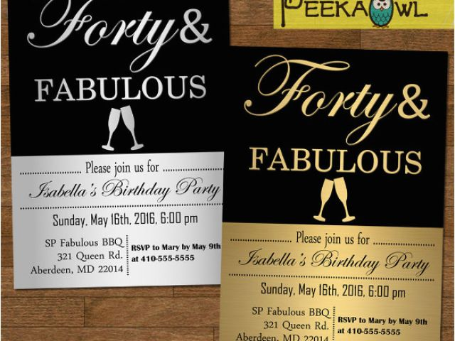 Download By SizeHandphone Tablet Desktop Original Size Back To 40th Birthday Invitation