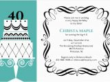 40th Birthday Invitation Cards Designs Fancy Cake formal 40th Birthday Invite 40th Birthday