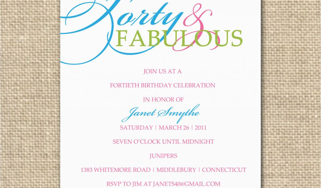 Download By SizeHandphone Tablet Desktop Original Size Back To 40th Birthday Invitation Sayings