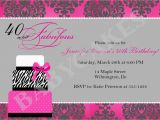 40th Birthday Invitation Templates Free Download 40th Party Invitation Template Free