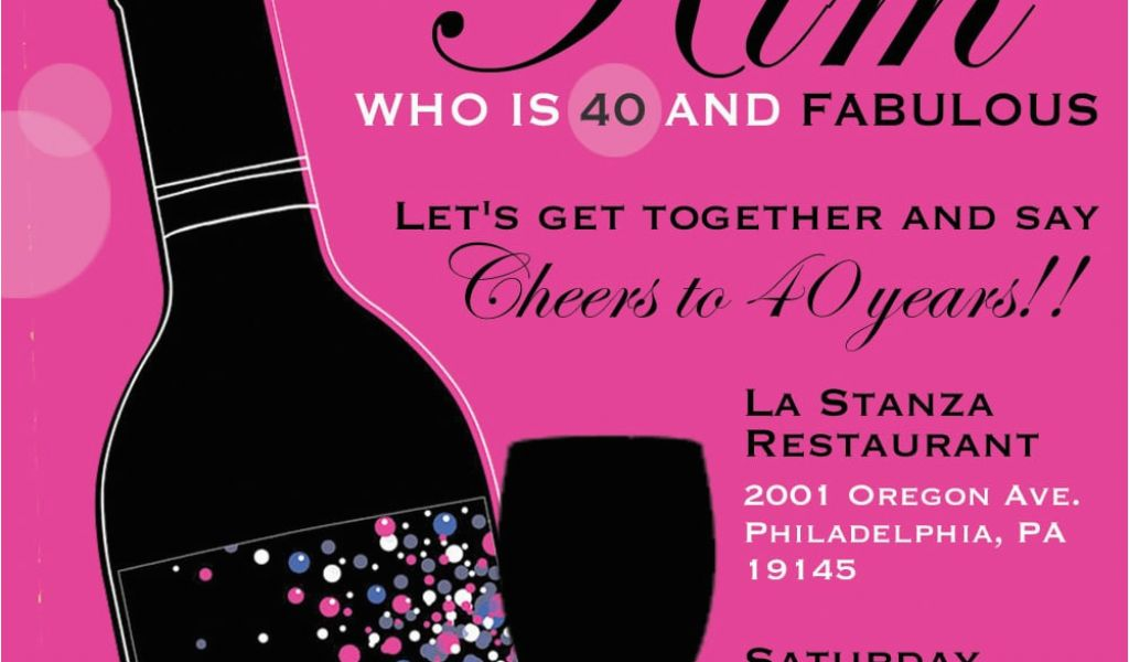 Download By SizeHandphone Tablet Desktop Original Size Back To 40th Birthday Invitation Templates Free
