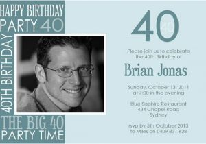 40th Birthday Invitation Wording for Men 40th Birthday Party Invitations for Men Dolanpedia