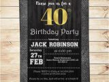 40th Birthday Invitation Wording for Men Mens 40th Birthday Party Black Silver and Gold Men 40th