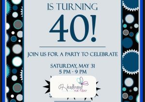 40th Birthday Invitation Wording for Men New 40th Birthday Party Invitations for Him Creative