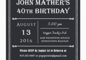 40th Birthday Invitations For Male Invitation Men Printable Milestone