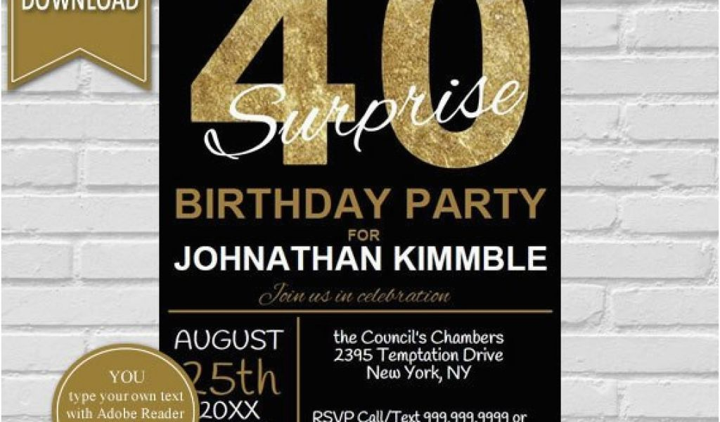 Download By SizeHandphone Tablet Desktop Original Size Back To 40th Birthday Invitations For Male