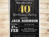 40th Birthday Invitations for Male Surprise 40th Birthday Party Invitations for Him Men 40th