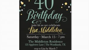 40th Birthday Invitations Free 40 Birthday Invitation Template orderecigsjuice Info