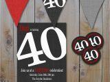 40th Birthday Invitations Ideas New 40th Birthday Party Invitations for Him Creative