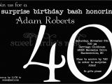 40th Birthday Invitations Templates 40th Surprise Birthday Party Invitations Bagvania Free