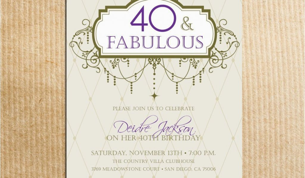 Download By SizeHandphone Tablet Desktop Original Size Back To 40th Birthday Invitations