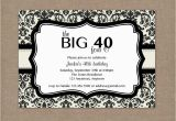 40th Birthday Invite Ideas 8 40th Birthday Invitations Ideas and themes Sample