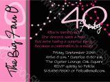 40th Birthday Invite Template 40th Birthday Invitation Wording Oxsvitation Com