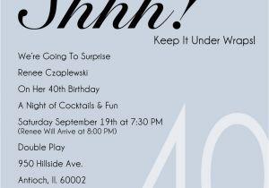 40th Birthday Invite Template 40th Party Invitation Template Free