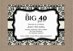 40th Birthday Invite Template 8 40th Birthday Invitations Ideas and themes Sample