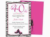 40th Birthday Invite Template Invitation Templates 40th Birthday Party Http
