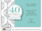40th Birthday Invite Template Surprise 40th Birthday Invitation Free Template